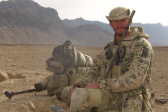 Australian commando David Wegman on deployment in Afghanistan.
