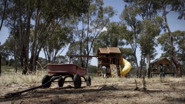 Playground equipment on the remote property in southern NSW.