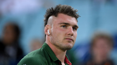Hair-raising stuff: Angus Crichton is convinced he will play his best footy yet at the Roosters.