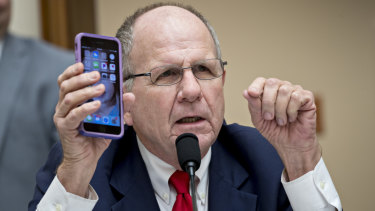 Congresman Ted Poe, from Texas, asked Pichai whether Google was tracking his phone.
