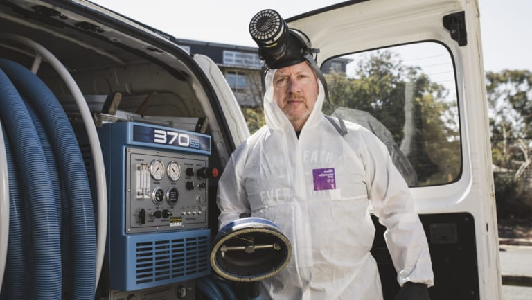 Bryan Norris said he deals with 15 cases of mould removal every week.