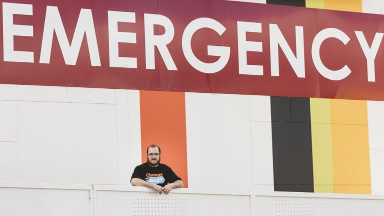 Canberra Hospital wardsperson Shane Archer.