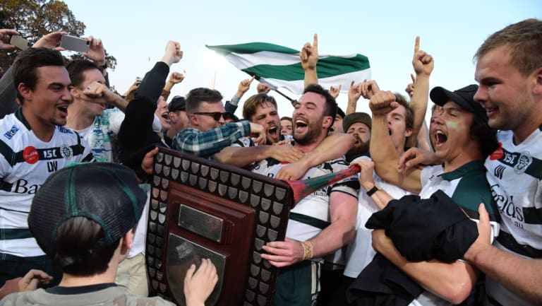 Local appeal: Shute Shield winners Warringah are expecting a bumper crowd to Rat Park this weekend.