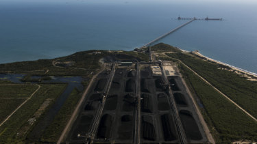 The coal terminal at Abbot Point, near the Great Barrier Reef