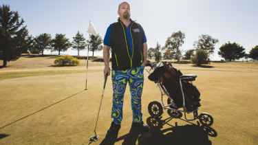 Stuart Ramshaw, president of the Weston Social Golfers is outraged about plans to take control of community contributions away from Canberra clubs, and has launched a campaign against Andrew Barr.