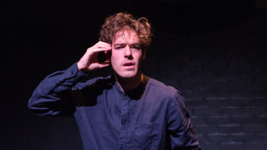 Christopher Samuel Carroll in his one-man show <i>Icarus</i>.