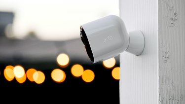 A home security camera can be part of a package of technology upgrades to protect victims of domestic violence.