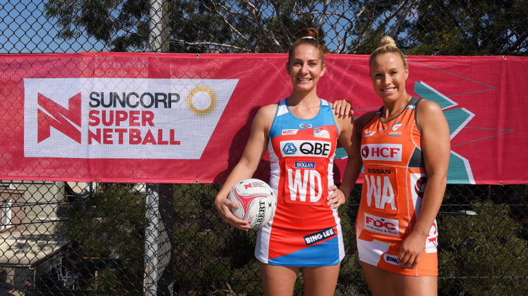 Captains: Abbey McCulloch and Kim Green are hoping to lead their teams to Super Netball glory.