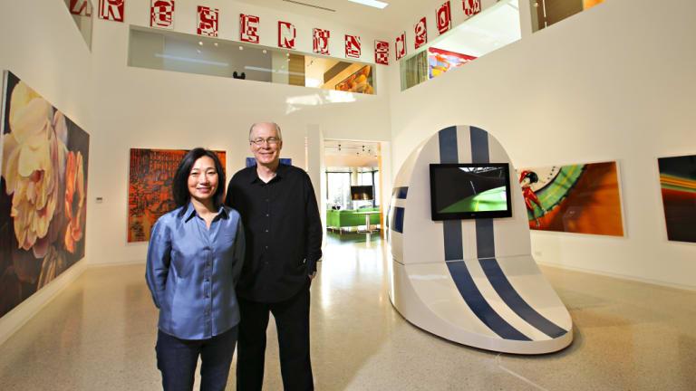 Corbett and Yueji Lyon inside the adjacent Housemuseum.