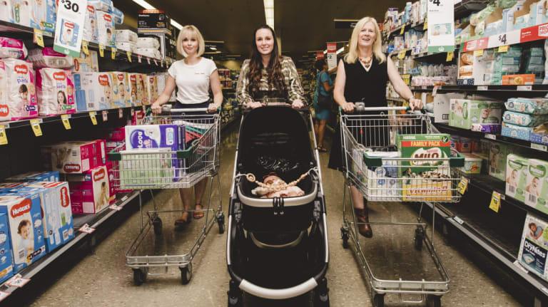 Canberra's most influential mummy grammers: Lauren Lauren Dubois, Camille Aniversario and Barbara Bryan.