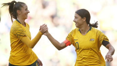 Ambition: The Matildas are hoping to play the 2023 World Cup on home soil.
