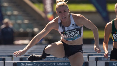 Disappointed: Sally Pearson pulled out of the final in the 100m hurdles, despite qualifying fastest.
