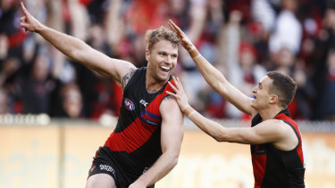 Stringer booted two goals against Sydney in Essendon's 10-point victory last weekend.