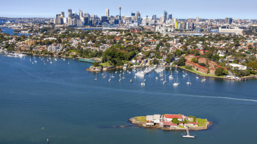 Sydney's boat-shaped Snapper Island, just 1.65 hectares in size, sits 200 metres off Drummoyne.