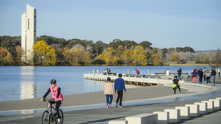 The Carillon sits beside Canberra's Lake Burley Griffin.