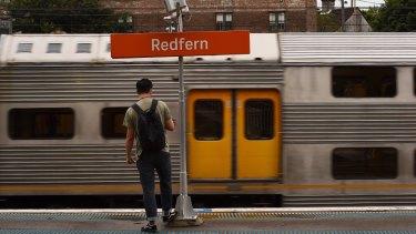 Redfern Station is Sydney's sixth busiest train station.