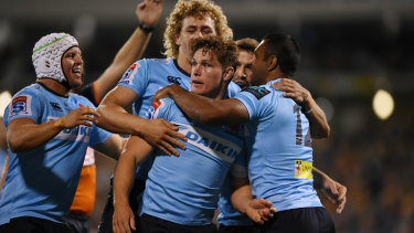 Milestone: Waratahs captain Michael Hooper will play his 100th game for NSW on Saturday.