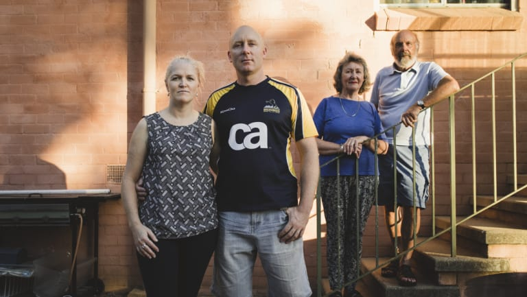 The Dunnet family have been stung heavily by the rates rises. They shared their story with Canberra in April. Front, Kim and Tim Dunnet, (behind) and Tim's parents Carol and Peter.