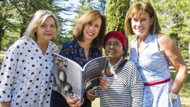 Singed Sisters, Karen Downing, Liz Tilley, Chandani Prammer and Julie Pham wanted to give back after receiving so much kindness during the 2003 bushfires.