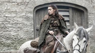 Arya Stark in season seven of Game of Thrones.