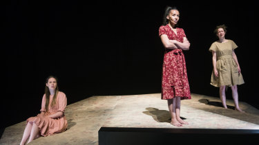 <i>The Bleeding Tree</i> at The Playhouse with Sophie Ross, left, as Ada, Paula Arundell as Mother and Brenna Harding as Ida.