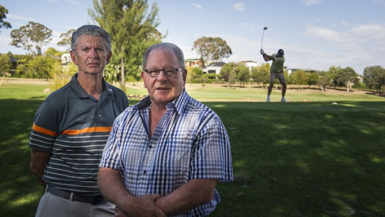 Concerned residents Ed Killesteyn and Gary Samuels. Mr Samuels said the development would mean a significant loss of lifestyle and amenity, hit the wildlife corridors, and reduce property values.
