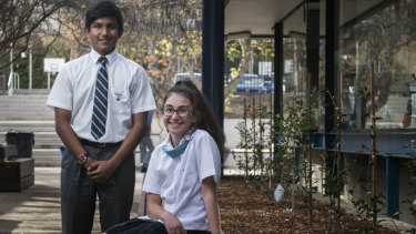 St Mary MacKillop College year 7 students Justine Rasheed and Ishan Ahmed discuss what they think about global warming and climate change.