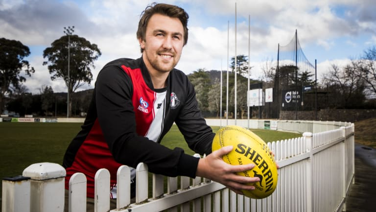 Ainslie AFL Canberra player Jed Costigan is playing his 100th first grade game for the club this weekend.