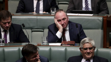 Barnaby Joyce enjoying QT.