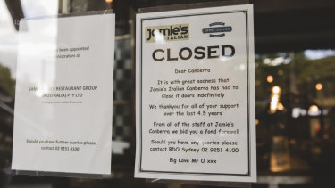Jamie's Italian Canberra has closed their doors.