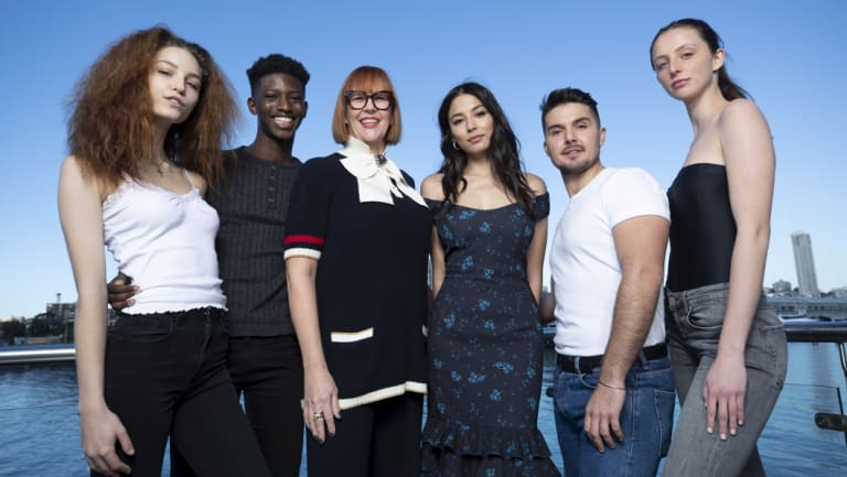 (L-R) Vali Clarke, Samuel Barrie, Kimberly Gardner, Jessica Gomes,Johnny Schembri and  Saria White at the DJs model casting.