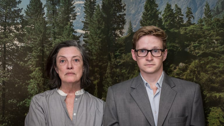 Karen Vickery and Lachlan Ruffy in  <i>Switzerland</i>