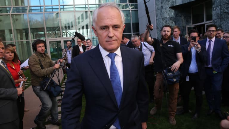 Malcolm Turnbull targeted Tony Abbott's economic leadership, as well as his Newspoll record.