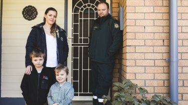 Bryan Woodford, pictured with his wife Amy and their sons Ethan, six, and Hayden, four, is a paramedic and has lived in Charnwood for five years.