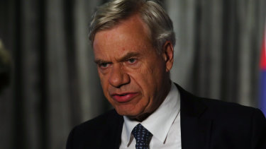 Liberal Party president Michael Kroger on election night