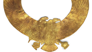 Gold Wesekh Collar and Counterpoise Vulture with Spread Wings and Uraeus