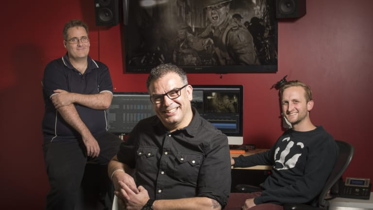 WildBear Entertainment producer James Sutherland, creative director Serge Ou  and senior editor, Rob Perry led a team which created the multimedia presentations at the Sir John Monash Centre.