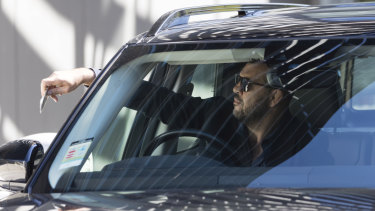 Checking out: Michael Cheika leaves the rugby headquarters at Moore Park on Saturday.