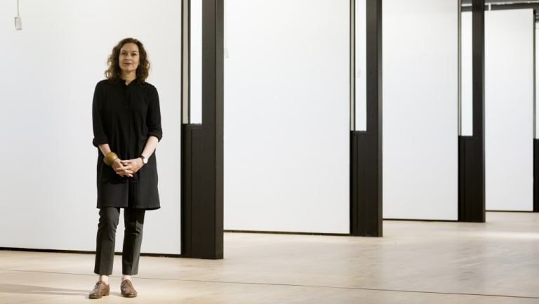 Melbourne architect Kerstin Thompson in the redeveoped Police Stables, now visual arts studio space at the VCA.