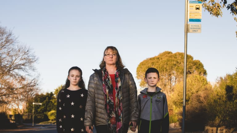 Melanie Wilson says she will have to change her work hours to drive her two children Molly 11, and Ben 8 (right) to school if their neighbourhood loses its dedicated school bus.
