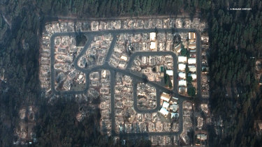 Part of the northern Californian town of Paradise after a wildfire last week.