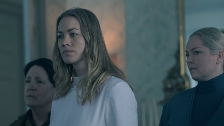 Yvonne Strahovski was nominated for best supporting actress for her performance in The Handmaid's Tale.