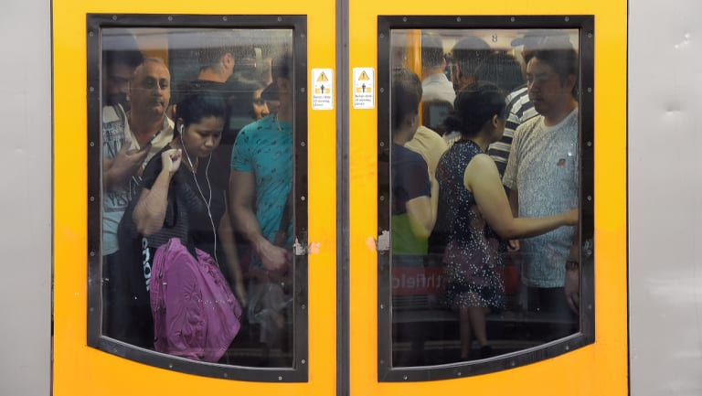 All across Sydney people feel squished into train carriages.