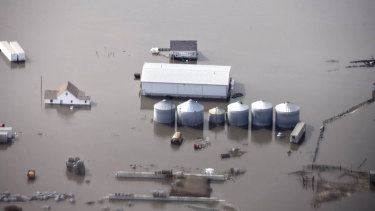 Flooding in rural Iowa, where crops have been devastated.