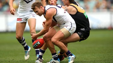 Second crack: Cameron Sutcliffe during his Fremantle days.