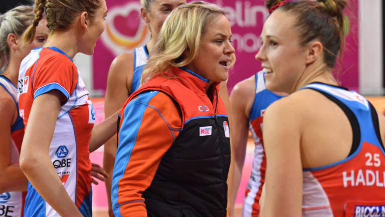 """""""I actually like the idea of the two point shot"""": Swifts coach Briony Akle."""