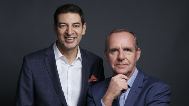 Breakfast buddies Basil Zempilas and Steve Mills have helped boost Radio 6PR's ratings throughout 2018.