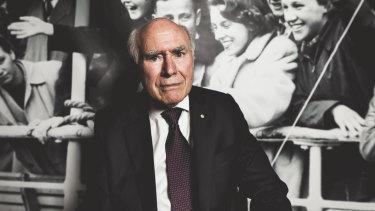 Former prime minister John Howard at the National Archives.
