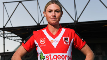 """Dragons recruit Maddie Studdon says her new club are """"ready to go"""" in the NRLW."""