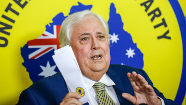United Australia Party's Clive Palmer has had his election chances bolstered by a preference deal with the Coalition.
